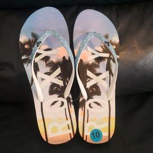 Roxy Sunset Ocean Thong Flip-Flops Women's 10